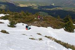 Ландшафт горы прикарпатский Стоковая Фотография