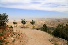 Ландшафт горы пустыни (вид с воздуха), Джордан, Ближний Восток Стоковое фото RF
