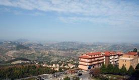 Ландшафт горы Сан-Марино Стоковое Изображение RF
