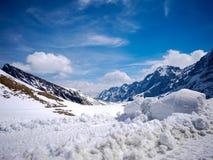 Ландшафт горы снега в Швейцарии (Gindelwald) Стоковое фото RF