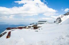 Ландшафт горы снега Yulong Стоковые Изображения RF