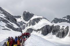 Ландшафт горы снега Yulong Стоковое Изображение