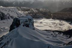 Ландшафт горы таблицы воздушный стоковое изображение rf