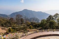 Ландшафт горы тот взгляд от вершины виска Rinpoche гуру на Namchi Сикким, Индия Стоковые Фотографии RF