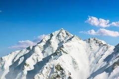Ландшафт горы Hotaka на shinhotaka, Японии Альпах в зиме Стоковое Изображение