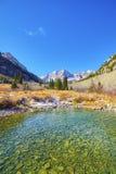 Ландшафт горы Maroon озера, Колорадо, США Стоковые Изображения