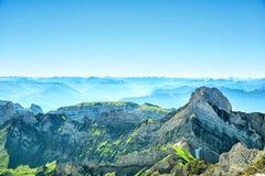 Ландшафт горы Saentis Стоковые Изображения