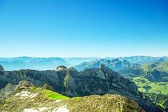 Ландшафт горы Saentis Стоковые Фотографии RF