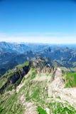 Ландшафт горы Saentis Стоковая Фотография