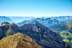 Ландшафт горы Saentis Стоковая Фотография RF
