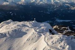 Ландшафт горы Whistler воздушный стоковые фото