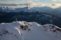 Ландшафт горы Whistler воздушный стоковое изображение rf