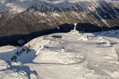 Ландшафт горы Whistler воздушный стоковое фото rf