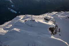 Ландшафт горы Whistler воздушный стоковая фотография rf