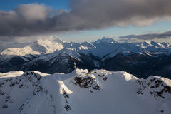 Ландшафт горы Whistler воздушный стоковое изображение