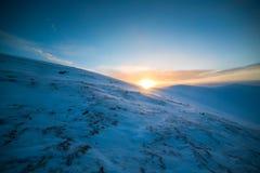 Ландшафт гор зимы Стоковые Фотографии RF