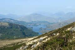 Ландшафт гор и озер Стоковая Фотография RF