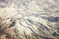 Ландшафт гор снежка в Японии около Токио Стоковая Фотография