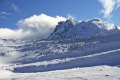 Ландшафт гор Snowy стоковая фотография