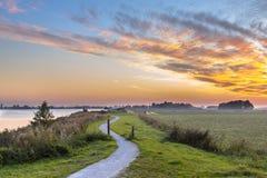 Ландшафт Голландии с следом замотки задействуя Стоковые Фотографии RF