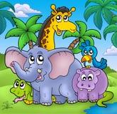 ландшафт группы животных Стоковые Фото