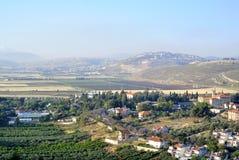 Ландшафт деревни Metula, Израиль Стоковое Изображение