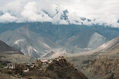 Ландшафт деревни Muktinath в более низком районе мустанга, Непале Стоковые Фото