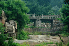 Ландшафт леса в парке горы Taishan стоковая фотография rf
