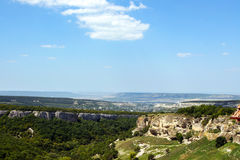 Ландшафт леса горы в Крыме Стоковое Изображение
