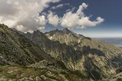 Ландшафт лета горы панорамы Tatry Словакия Стоковая Фотография RF