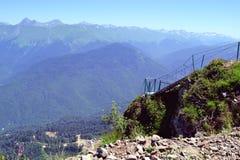 Ландшафт лета кавказских гор стоковое фото rf