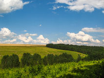 Ландшафт лета сельский в unspoiled природе Стоковое фото RF