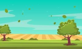 Ландшафт лета шаржа Стоковые Изображения RF
