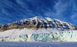 Ландшафт ледника, Свальбард Стоковые Изображения