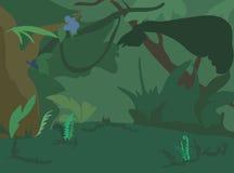 Ландшафт джунглей иллюстрация вектора