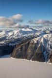 Ландшафт замороженного озера Garibaldi воздушный Стоковая Фотография