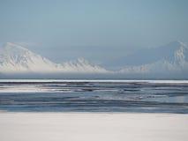 Ландшафт затишья Snowy Стоковое фото RF