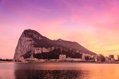 Ландшафт захода солнца Гибралтара Стоковое Изображение