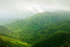 Ландшафт зеленого цвета Маврикия Стоковая Фотография