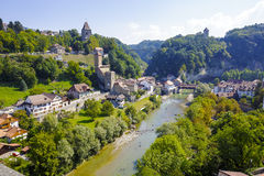 Ландшафт зеленых зон Fribourg Стоковое Изображение