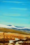 Ландшафт зимы в испанских горах Пиренеи Стоковые Изображения RF