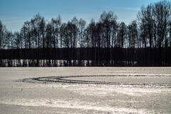 Ландшафт зимы в России (зона Kaluga) стоковое изображение