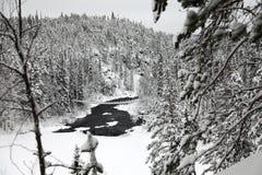 Ландшафт зимы в Финляндии Стоковое фото RF