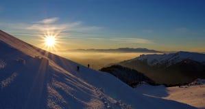 Ландшафт зимы гористый Стоковая Фотография