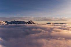 Ландшафт зимы горы панорамы Стоковое Изображение RF