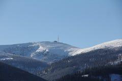 Ландшафт зимы горы Стоковое Изображение