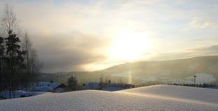 Ландшафт зимы, Норвегия Стоковые Изображения RF