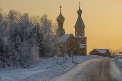 Ландшафт зимы. Стоковые Изображения