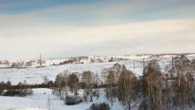 Ландшафт зимы видеоматериал