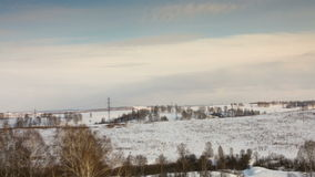 Ландшафт зимы сток-видео